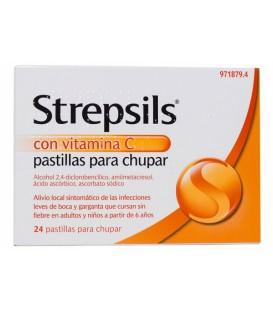 Strepsils Naranja Vitamina C 24 pastillas