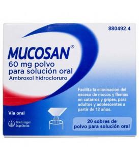 Mucosan 60mg 20 sobres